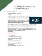 PROPUESTA PARA LAS LECTURAS DE LA FIESTA DE SAN MATURÍN