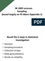 Lecture 2 - Sampling Lecture Slides 2011-2012