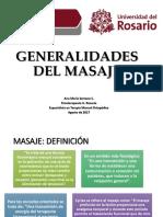 GENERALIDADES DEL MASAJE 2017-II