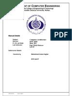 Computer architectutre manual 7 2019-cpe-27 Muhammad Usama Saghar