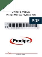 clavier Midi usb keyboard49N manual-anglais