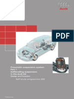 Pneumatic suspension system in the  Audi A6 Design and function