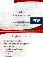 Kinds Of Business Letter Business