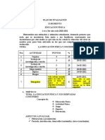 Plan de Evaluación II Lapso Educacion Fisica 20- 21
