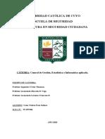PARCIAL DE Control de Gestión, Estadistica e Informatica aplicada