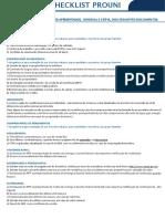 Checklist Prouni Estacio