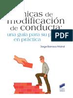 Técnicas de Modificación de Conducta; Una Guía Para Su Puesta en Práctica