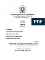 Elaboración de documentos semiconvencionales como son y redaccion y preparacion de escritos tecnicos