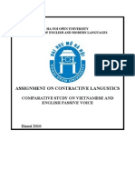 ASSIGNMENT ON CONTRACTIVE LANGUISTIC
