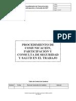 1. Procedimiento de Comunicación Participación y Consulta de SST
