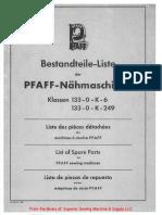 Pfaff 133-0-K-6; 133-0-K-249