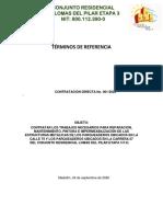 TERMINOS DE REFERENCIA MANTENIMIENTO Y PINTURA DE PARQUEADEROS