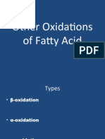 Other Oxidations of Fatty Acid