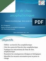 Etat de choc anaphylactique