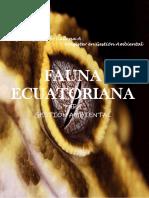 FAUNA ECUATORIANA  2021