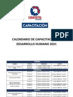 Calendario Capacitación Desarrollo Humano 2021