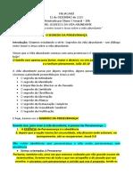 O SEGREDO DA  PERSEVERANÇA 13.12.2020 18h Eliane