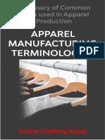Terminologies in Apparel Manufacturing - OCS-2020
