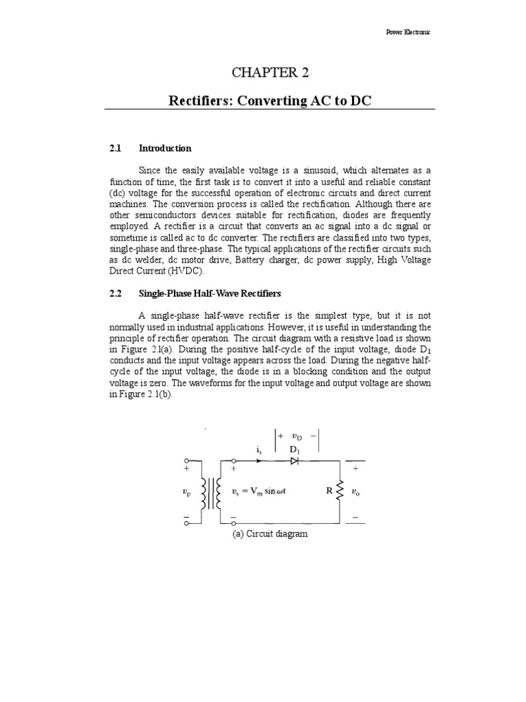 Bee4113 Chapter 2 Rectifier Power Electronics Circuit Diagram