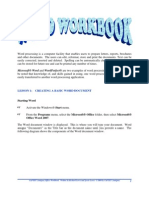 CaFSET (Antigua) Office Workbook - Sixth Edition - Word Sample Pages