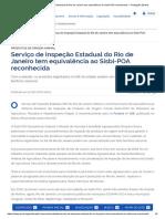 Serviço de Inspeção Estadual do Rio de Janeiro tem equivalência ao Sisbi-POA reconhecida — Português (Brasil)