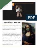 ARTICULO LAS ENSEÑANZAS DE COVID 19