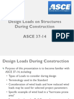 Design Loads During Construction ASCE 37 14