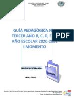 GUIA PEDAGOGICA II TERCER AÑO AÑO SECCION B, C, D,E Y F