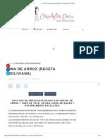 Pan de Arroz (Receta Boliviana) - Chipa by the Dozen