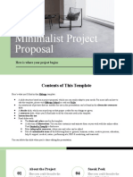 Minimalist Project Proposal by Slidesgo