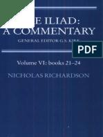 4.the Iliad. A_Commentary VI. LIBRO 21-24