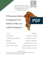 Prof, Carmen Sanabria, Lider Anismel Leon, Actividad 4. Estado, Integracion Regional y Globalizacion