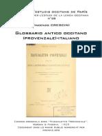 Vincenzo CRESCINI - Glossario Antico Occitano (Provenzale)-Italiano