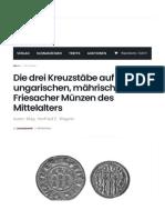 Die drei Kreuzstäbe auf ungarischen, mährischen und Friesacher Münzen des Mittelalters – Money Trend
