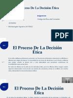 El Proceso de La Decision Etica