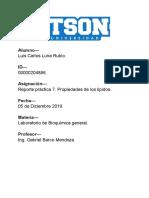 Reporte Práctica 7 Bioquímica Luna Rubio