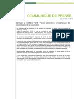 Campagne de sensibilisation à la vaccination contre la méningite C - ARS Nord - Pas-de-Calais - Communiqué de presse