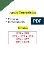 DesarrolloCronologicoActosTerroristas Victimas Perpetradores 1959 2010