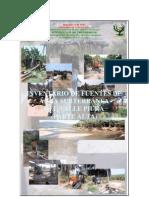 inventario de las fuentes de agua subterranea del valle del piura (parte alta)
