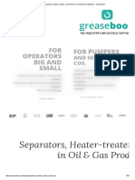 Separators, Heater-treaters, And Pressure in Oil & Gas Production - Greasebook