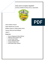 DIDACTICA GENERAL - PLANIFICACION CURRICULAR