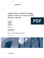 Adaptive Flow Control for Enabling Quality of Service in Tactical Ad Hoc Wireless Networks