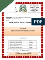 KEPAD PASSWORD REPORT&