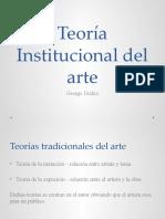 Teoría Institucional del arte