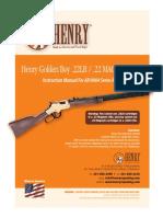 Henry-(Series h004)-22 Long Rifle, 22 Magnum, 17hmr Golden Boy Manual