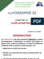 Chap 4 - Lever altimétrique