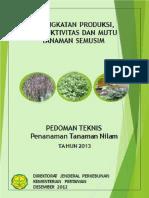 Pedoman Teknis Penanaman Tanaman Nilam