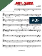 Rota N. - Le notti di Cabiria - Brass Ensemble - Horn in F 3