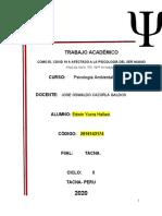 Psicología ambiental-trabajo académico-unidad II -Yucra Hallasi, Edwin. ..
