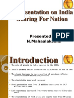 A Presentation on India Gearing For Nation